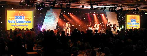 Gala lunch, with live band performance, for TUI.